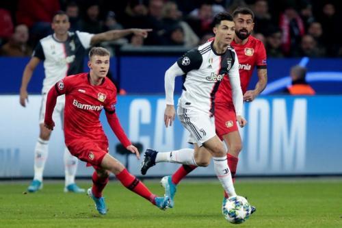 Cristiano Ronaldo dan kolega jarang merepotkan Bayer Leverkusen di paruh pertama (Foto: UEFA)