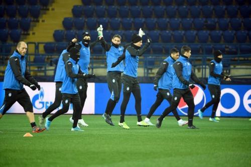 Skuad Atalanta berlatih di Stadion Metalist (Foto: UEFA)