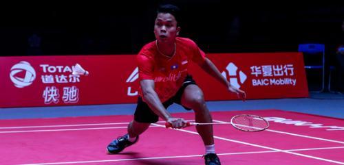 Anthony Sinisuka Ginting saat tampil membela Indonesia