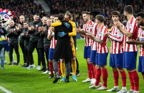 Suasana laga Atletico vs Osasuna