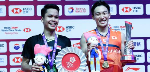 Podium tunggal putra BWF World Tour Finals 2019