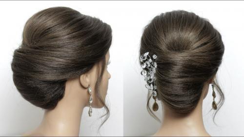 Tatanan rambut French Roll Style ini menjadi yang paling mudah di antara dua gaya rambut di atas.