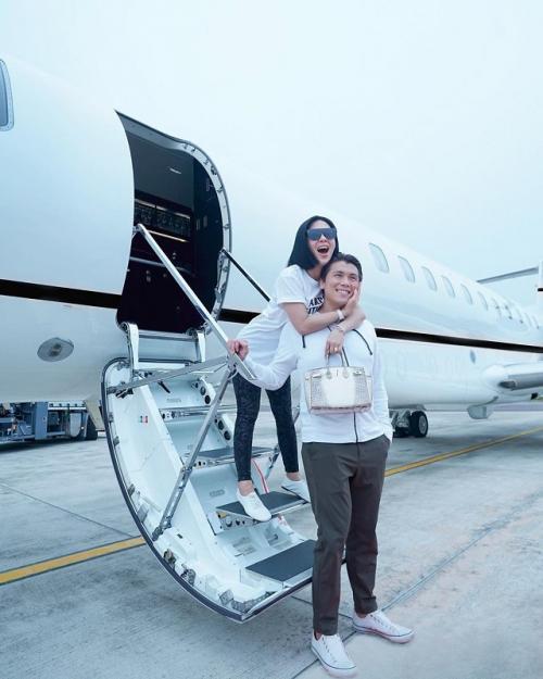 Namun Syahrini mengaku, belum berniat untuk menjalankan program kehamilan. (Foto: Instagram/@princessyahrini)