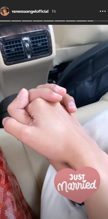 Vannessa Angel mengklaim telah menikah dalam unggahan InstaStorynya. (Foto: Instagram/@vanessaangelofficial)