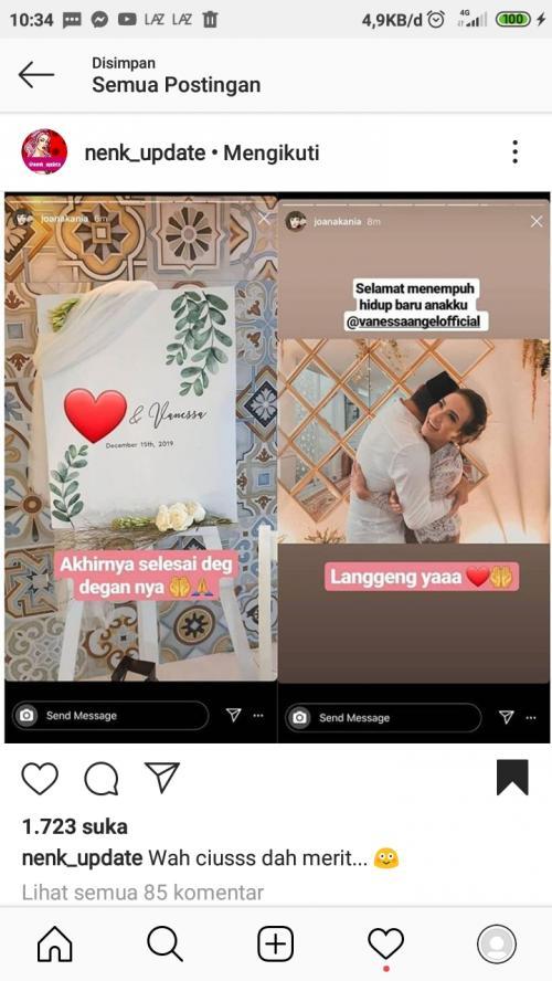 Lucinta Luna menyebut, pengusaha yang menikahi Vanessa Angel menghadiahinya sebuah rumah mewah. (Foto: Instagram/@nenk_update)