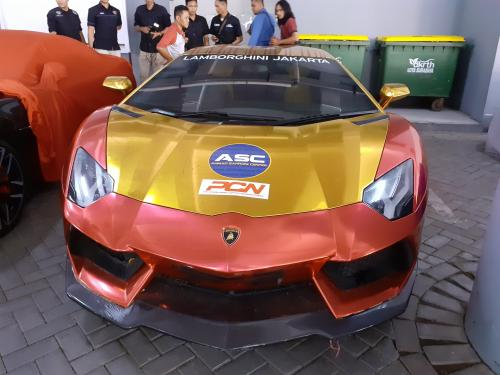 Lamborghini Berstiker ASC yang Diamankan Polda Jatim (foto: Ist)