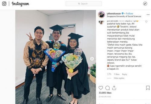 hingga saat diwisuda dari Singapore University of Social Sciences pada Oktober 2019 kemarin.
