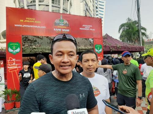 Ketua Penyelenggara Jayakarta Loe Gue Run 2020, Kolonel Infanteri Wahyu Yudhayana. (Foto: Harits Tryan Akhmad/Okezone)