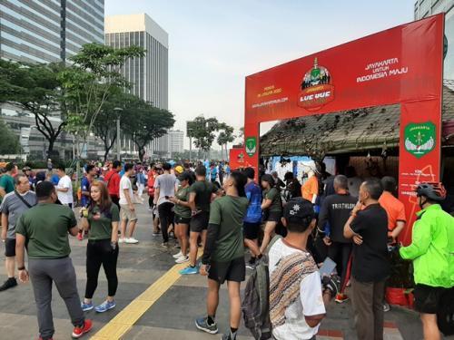 ayakarta Loe Gue Run 2020. (Foto: Harits Tryan Akhmad/Okezone)