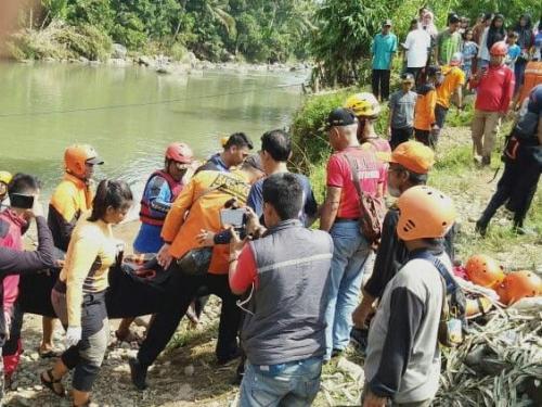 Pembina Santri Bogor yang Tenggelam di Sungai Cianten Ditemukan Tewas (foto: Istimewa)