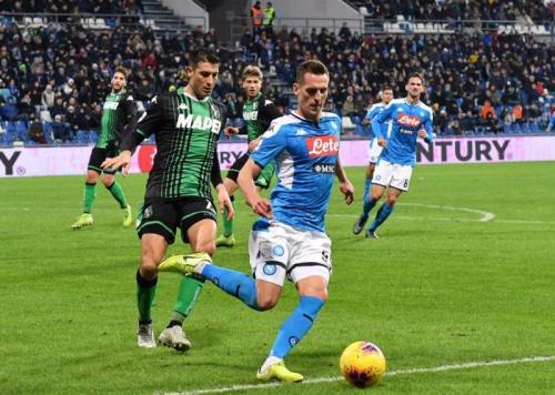 Sassuolo vs Napoli (Foto: Twitter/@sscnapoli)