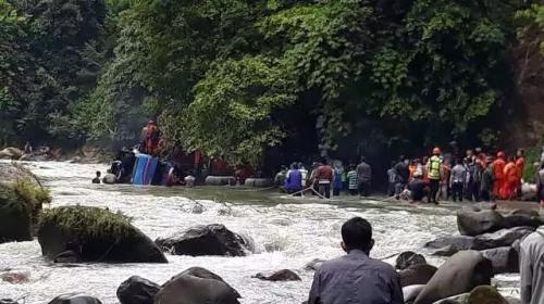Kecelakaan Bus Sriwijaya di Pagaralam. (Foto: Basarnas Sumsel)