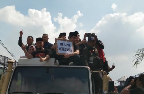 Ahmad Dhani bebas. (Foto: Okezone/Vania Ika Aldida)