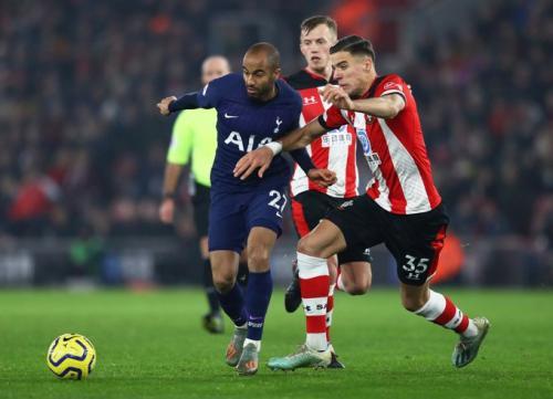 Suasana laga Southampton vs Tottenham
