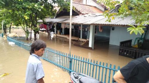 Banjir di Bekasi (foto: Okezone/Wijayakusuma)