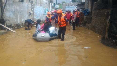 Ilustrasi foto banjir di Jakarta. (Foto: Okezone)