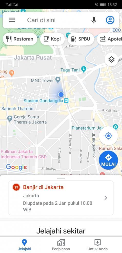 Ini Cara Cek Titik Banjir Lewat Google Maps