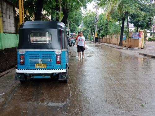 Banjir di Pela Mampang sudah surut. (Foto: Muhamad Rizky/Okezone)