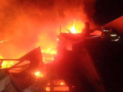 Rumah di Gunung Sahari, Jakpus, terbakar. (Ist)