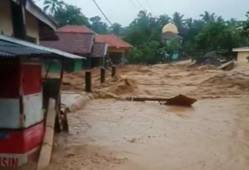 Banjir Lebak, Banten, pada awal Januari 2020. (Foto : Rasyid Ridho)