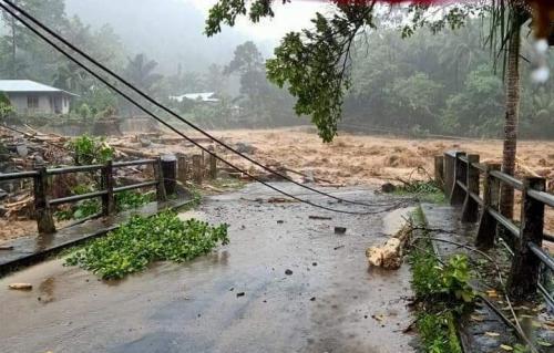 Banjir bandang di Sangihe (Foto : Istimewa)