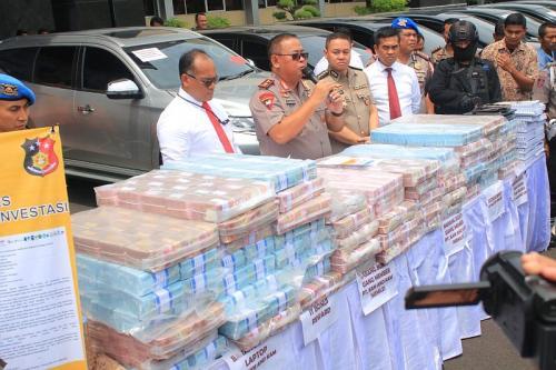Investasi Bodong Beromzet Rp750 Miliar Dibongkar Polisi (foto: Okezone/Syaiful Islam)