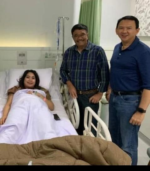 Ahok dan Puput bersama Djarot Saiful Hidayat