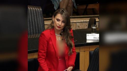 Paulinha tampak langsung ingin pergi clubbing setelah urusan formalitas di sidang sudah selesai.