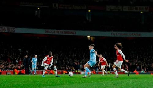 Leeds United saat melawan Arsenal di Piala FA 2019-2020