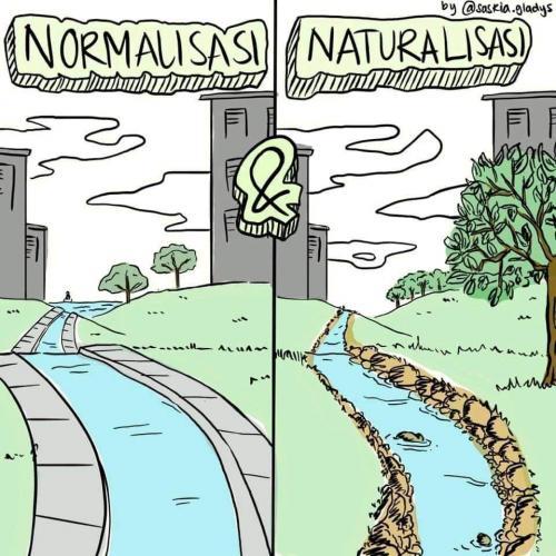 Topik mengenai perbedaan antara normalisasi dan naturalisasi sungai untuk mengatasi banjir Jakarta masih menjadi perhatian menarik.