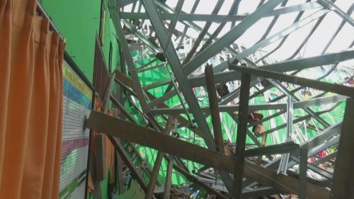 Bangunan SDN 1 Palebon roboh, Foto: Taufik Budi