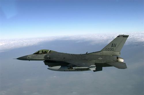 Ilustrasi pesawat F-16