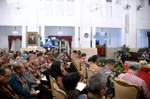 Jokowi bersama para duta besar. (Foto: Biro Pers Setpres)