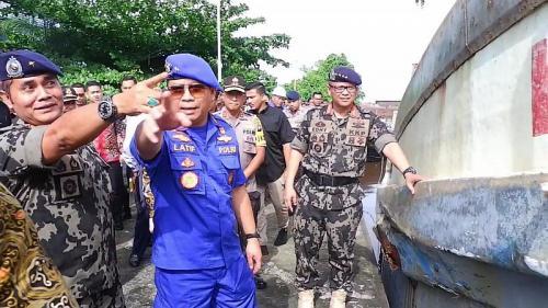 Menteri KKP Edhy Prabowo di Natuna (Foto : Okezone.com/Edhy)