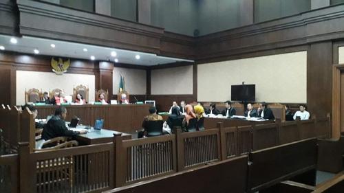 Sidang Kasus Korupsi Alkes Banten di Pengadilan Tipikor Jakarta (foto: Okezone/Arie DS)