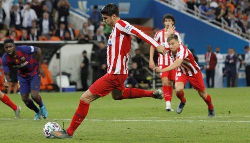 Alvaro Morata vs Barcelona (Foto: Laman resmi Atletico Madrid)