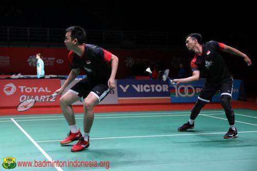 Penampilan Mohammad Ahsan/Hendra Setiawan
