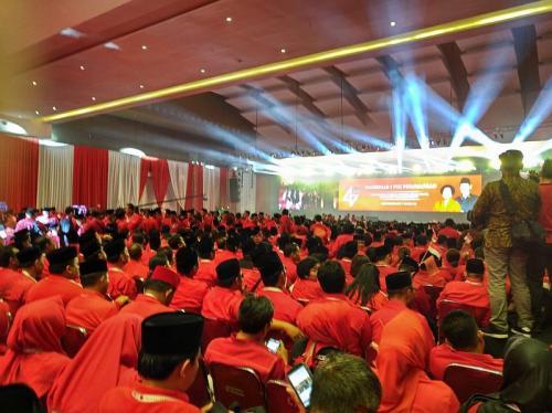 Rakernas PDI Perjuangan di Kemayoran (Foto : Okezone.com/Reza)