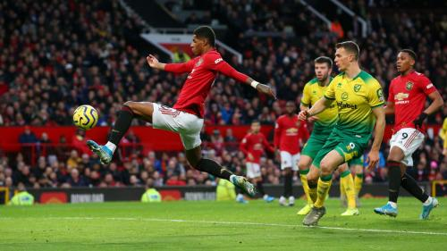Marcus Rashford vs Norwich City (Foto: Premier League)