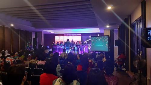 Perayaan Natal dihadiri tokoh lintas agama (Foto : Okezone.com/Sarah)