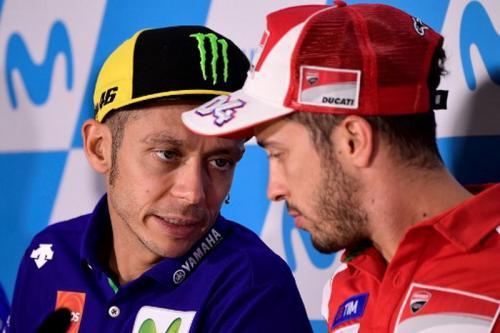 Andrea Dovizioso dan Valentino Rossi