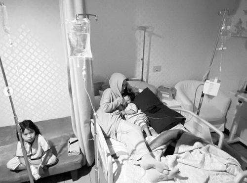 Zaskia dan anak-anak sakit