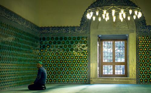 masjid berwarna hijau