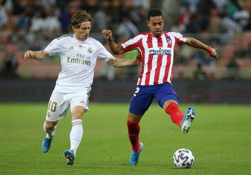 Suasana laga Madrid vs Atletico