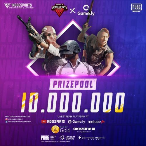 Indoesports League Mobile menyelenggarkan turnamen game PUBG Mobile dengan total hadiah sebesar Rp10 juta.
