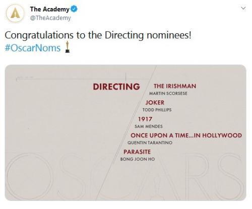 Nominasi Oscar 2020