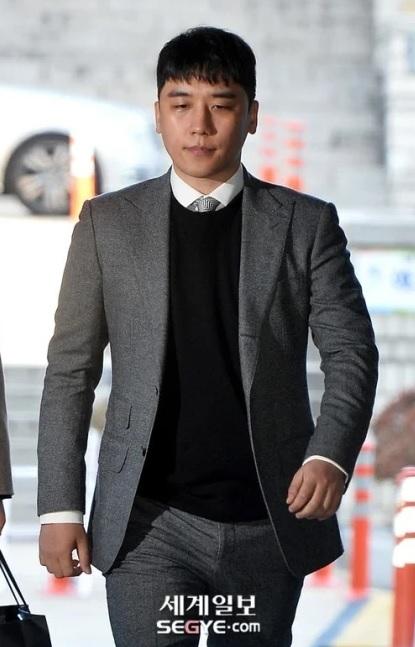 Seungri menghadiri sidang hearing terkait penahanannya pada 14 Januari 2020. (Foto: SEGYE)