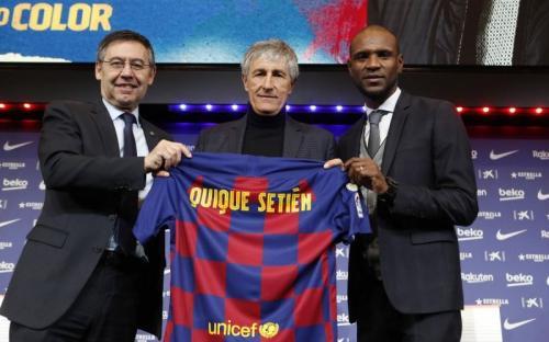 Quique Setien diperkenalkan sebagai Pelatih Barcelona (Foto: Barcelona)