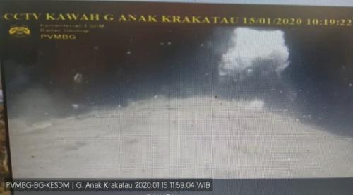 Gunung Anak Krakatau erupsi (PVMBG BG KESDM)