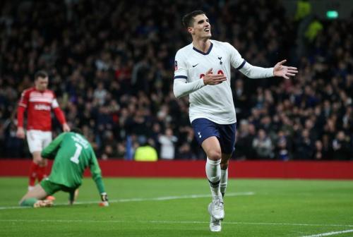Erik Lamela mengubah skor menjadi 2-0 (Foto: Tottenham Hotspur)
